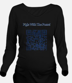 Cowbell_Posse_Ride_W Long Sleeve Maternity T-Shirt