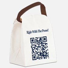 Cowbell_Posse_Ride_With_RealR_QR Canvas Lunch Bag