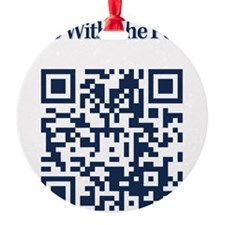 Cowbell_Posse_Ride_With_RealR_QR Ornament