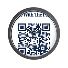 Cowbell_Posse_Ride_With_RealR_QR Wall Clock