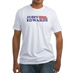 John Edwards flag Fitted T-Shirt
