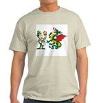 Snakes, Dragons and Leprechauns Ash Grey T-Shirt