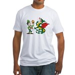 Snakes, Dragons and Leprechauns Fitted T-Shirt