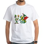 Snakes, Dragons and Leprechauns White T-Shirt