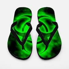 glowingBiohazardGreenIP Flip Flops
