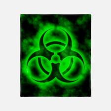 glowingBiohazardGreenIP Throw Blanket