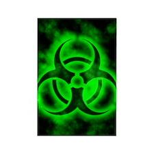 glowingBiohazardGreenIP Rectangle Magnet