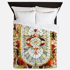 Regal_Splendor_Stained_Glass_16 20_sma Queen Duvet