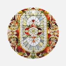 Regal_Splendor_Stained_Glass_16 20_ Round Ornament