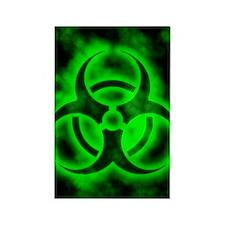 glowingBiohazardGreenJNL Rectangle Magnet