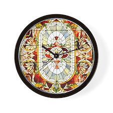 Regal_Splendor_Stained_Glass_9 12_Frame Wall Clock