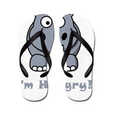Hungry Hippo Grey Flip Flops