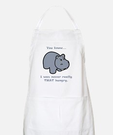Not Hungry Hippo Grey Apron