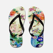 HUMMINGBIRD_STAINED_GLASS_23 35 Large P Flip Flops