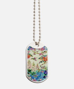 HUMMINGBIRD_STAINED_GLASS_23 35 Large Pos Dog Tags