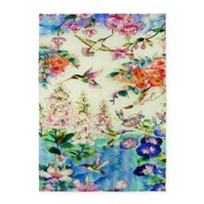 HUMMINGBIRD_STAINED_GLASS_23 35 Lar 5'x7'Area Rug