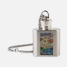 HUMMINGBIRD_STAINED_GLASS_23 35 Lar Flask Necklace
