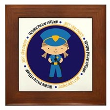 police girl daddy cp Framed Tile
