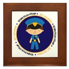 police boymommy_cp Framed Tile