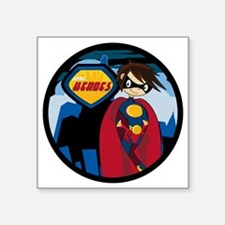 "Hero Badge1 Square Sticker 3"" x 3"""