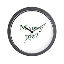 Marry Me? - Lucky Green Wall Clock