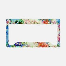 HUMMINGBIRD_STAINED_GLASS_14  License Plate Holder