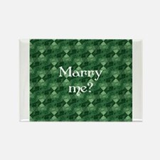 Marry Me? - Lucky Green Rectangle Magnet