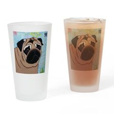 Pug Mouse Pad Drinking Glass