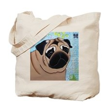 Pug Mouse Pad Tote Bag