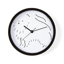 PomeranianSketch001 Wall Clock