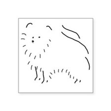 "PomeranianSketch001 Square Sticker 3"" x 3"""