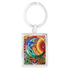 Mexican_String_Art_Image_Sun_Moo Portrait Keychain