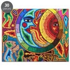 Mexican_String_Art_Image_Sun_Moon_12by12 Puzzle