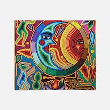 Mexican_String_Art_Image_Sun_Moon_12 Throw Blanket