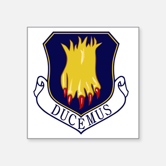 "22nd Bomb Wing - Ducemus Square Sticker 3"" x 3"""