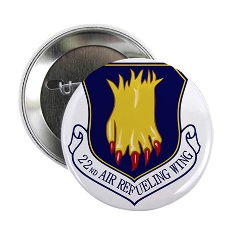"""22nd Air Refueling Wing 2.25"""" Button"""