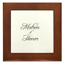 Matron Of Honor - Formal Framed Tile