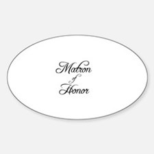 Matron Of Honor - Formal Oval Decal