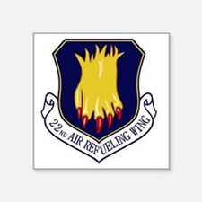 "22nd Air Refueling Wing Square Sticker 3"" x 3"""