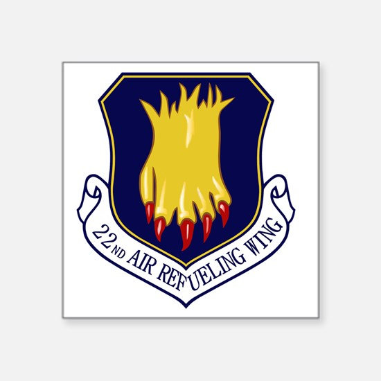 """22nd Air Refueling Wing Square Sticker 3"""" x 3"""""""