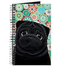 Black Pug circles Journal