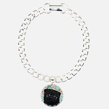 Black Pug circles Bracelet