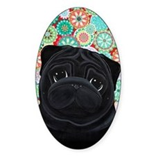 Black Pug circles Decal