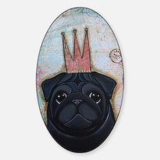 Black Pug Crowned Decal