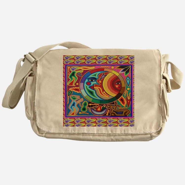 Mexican_String_Art_Image_Sun_Moon_12 Messenger Bag