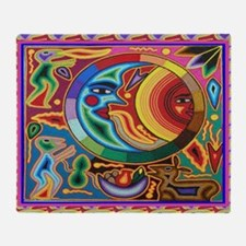 Mexican_String_Art_Image_Sun_Moon_12 Throw Blanket