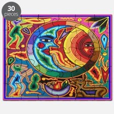 Mexican_String_Art_Image_Sun_Moon_12 12 Puzzle