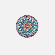 Mexican_String_Art_Gemetric_Sun_12 12 Mini Button