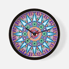 Mexican_String_Art_Gemetric_Sun_12 12 Wall Clock
