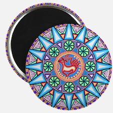 Mexican_String_Art_Gemetric_Sun_12 12 Magnet